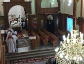 صور.. بدء صلاة قداس الأربعين للأنبا أبيفانيوس بكنيسة العذراء بطنطا
