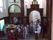 الأنبا بولا يترأس قداس الأربعين للأنبا أبيفانيوس بكنيسة العذراء بطنطا