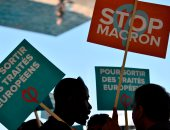 بالصور.. تظاهرات فى مدينة مرسيليا على هامش لقاء ماكرون وميركل