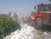 إزالة 37 حالة تعد على الأراضى الزراعية بمركز العدوة بالمنيا