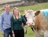 """خارج الصندوق.. مزارع اسكتلندى يعتمد على """"بقرة"""" كوسيط لطلب يد حبيبته - صور"""