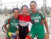 ابتسام زايد تفوز بذهبية سباق ضد الساعة فى البطولة العربية للدراجات بالجزائر