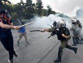 الشرطة اليونانية تلقى القبض على 61 مهاجرا عقب أعمال عنف شمالى البلاد