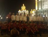 صور.. جولة ترفيهية للاعبى المنتخب الأوليمبى فى روسيا