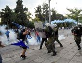 الشرطة اليونانية تقمع مظاهرات المعارضة المطالبة بتغيير اسم مقدونيا