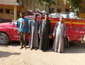 ضبط 4 أشخاص سرقوا 2 طن كابلات وحديد أبراج كهرباء بأسوان.. صور