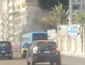 الحماية المدنية بالإسكندرية تسيطر على حريق نشب فى جراج النقل العام بسموحة