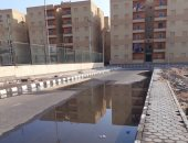 قارئ يشكو من كسر مواسير مياه مشروع الإسكان الاجتماعى دهشور