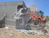 إزالة مزرعة دواجن مقامة على أراضى زراعية بمطوبس فى كفر الشيخ