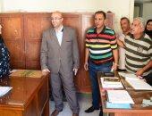 نائب محافظ بورسعيد يتفقد سير العمل بإدارات الديوان العام بالمحافظة