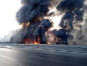النيابة تعاين موقع حريق مخزن بالسلام.. وتأمر بانتداب الأدلة الجنائية