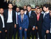 نجوم الأهلى يحتفلون بزفاف حسين السيد