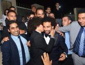 فيديو وصور.. محمد صلاح يحضر زفاف حسين السيد
