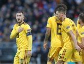 فيديو.. بلجيكا تضرب آيسلندا بثنائية فى دقيقتين عن طريق هازارد ولوكاكو