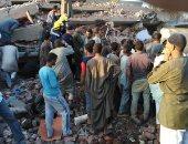 انهيار منزل من طابقين بطوخ دون خسائر بشرية