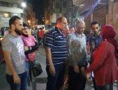 حملات مسائية مكبرة لإزالة إشغالات الطريق وسط وغرب الاسكندرية