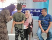 """الكشف على 270 طفلا فى قافلة طبية برعاية """"قومى المرأة"""" بميت أبو الكوم"""