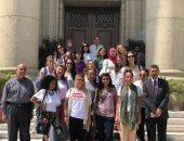 صور.. وفد من 17 طالبة إيطالية يزور جامعة القاهرة
