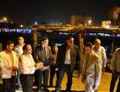 صور. جولة مفاجأة لمحافظ البحيرة بمدينة دمنهور فجرا لتفقد أعمال رصف طريق دسوق