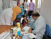 """""""صحة الإسكندرية"""": الكشف على 1059 حالة مجانا فى القافلة الطبية بوحدة الحضرة"""