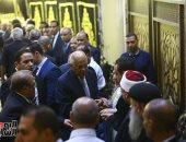 رئيس البرلمان والسيد الشريف يشاركان فى عزاء شقيقة حسن راتب