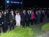 وزير التعليم العالى وماجد المصرى ودنيا سمير غانم باحتفالية جامعة أكتوبر للعلوم