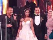 فيديو وصور.. نجوم الفن والإعلام والمجتمع فى حفل زفاف نجل محسن جابر