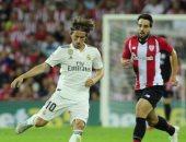 أتلتيك بيلباو يتقدم على ريال مدريد بهدف بعد 32 دقيقة