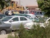 زحام مرورى بطريق السويس والدائرى بسبب أعمال تطوير بشارع الثورة