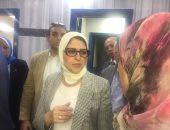 وزيرة الصحة: المصابين تحت إشراف طبى ورعاية صحية متكاملة