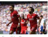 """محمد صلاح يتصدر صفحة"""" ليفربول"""" بعد الفوز على توتنهام"""