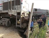مصادر بالسكة الحديد: حادث شبين الكوم وقع بسبب تجاوز السائق للسرعة وتخطيه السيمافور