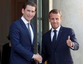 """صور.. الرئيس الفرنسى يستقبل """"كورتز"""" للتجنب خروج بريطانيا من الاتحاد الأوروبى"""