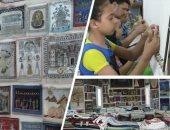 فيديو.. مدرسة الفن تفتح أبوابها لتعلم صناعة السجاد اليدوي