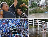 صور.. العالم هذا الصباح.. مظاهرات فى نيكاراجوا تطالب برحيل الحكومة.. الفيضانات تغمر ولاية كارولينا الأمريكية.. إعصار مانكوت يصل إلى أكثر أقاليم الصين كثافة سكانية.. وكبار السن فى اليابان يحتفلون بعيد المسنين