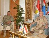 الفريق محمد فريد يلتقى قائد القوات البرية بالقيادة المركزية الأمريكية