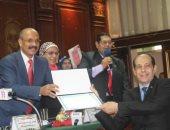 دار العلوم جامعة القاهرة تكرم الزميلين عادل السنهورى ومحمد ثروت