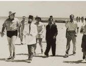 """من ذاكرة التاريخ.. الملك فاروق بـ """"المايوه"""" فى زيارة لمتحف الأحياء المائية"""
