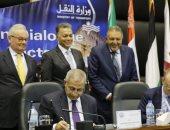 وزير النقل يشهد توقيع اتفاقية مع شركة إيطالية لتدريب الطلاب