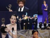 """صور.. """"لو متابعتش جوائز emmy اعرف تفاصيلها"""".. للمرة الثالثة Game of Thrones يحصل على أفضل مسلسل درامى.. وثاندى نيوتن تفجر قنبلة الحفل بتصريحاتها.. والدورة الـ""""70"""" ترد اعتبار كلير فوى"""