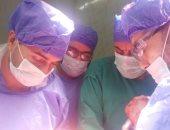 فريق جراحى ببنها التخصصى ينقذ حياة رضيع ولد بأمعاء خارج بطنه