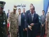 الرئيس السيسى يفتتح مستشفى المنوفية العسكرى.. ومساحتها 29 ألف متر مربع