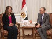 غادة والى تستقبل سفير أستراليا بالقاهرة لبحث التعاون بين البلدين