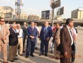 محافظ القاهرة يتفقد أعمال الإزالة بمثلث ماسبيرو