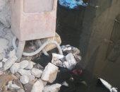 """""""الصرف الصحى والكهرباء"""" يقطعان الطريق على سكان شارع عبد الحميد رضوان بالإسكندرية"""
