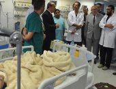 صور.. محافظ كفر الشيخ يتابع حملة لإجراء 150 عملية جراحية للأطفال