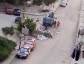 استجابة لخدمة صحافة المواطن ..حى شرق مدينة نصر يرفع مخلفات الشوارع