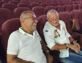 شاهد.. شريف منير ونجيب ساويرس أثناء تحضيرات مهرجان الجونة السينمائى