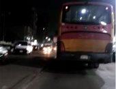 فيديو.. قارئ يرصد أتوبيس نقل عام تتصاعد منه أدخنة كثيفة بشارع المطرية