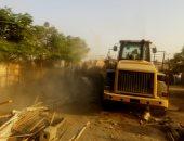 صور.. حملة لإزالة تعديات على 44 فدانا من أراضى الدولة بالمطرية